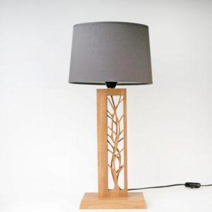 lampe vegetale en chëne massif vue-principale