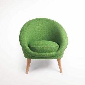 fauteuil kiwi vert vue face