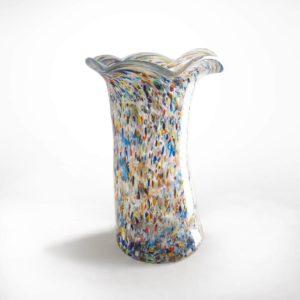 vase grand modèle en verre soufflé avec millefiori