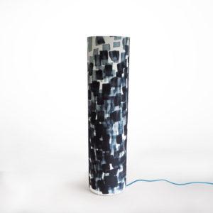 lampe tube à poser en tissu tag