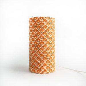 lampe à poser en tissu art deco jaune