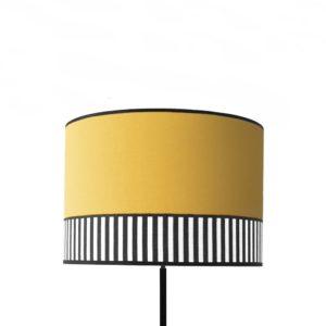 Abat-jour tissu Collection Lampion jaune safran