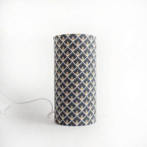 lampe tube en tissu art deco vert