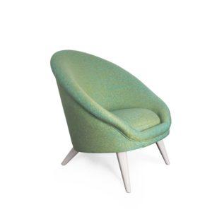fauteuil kiwi vert clair vue profil