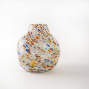 vase boule blanc avec Millefiori